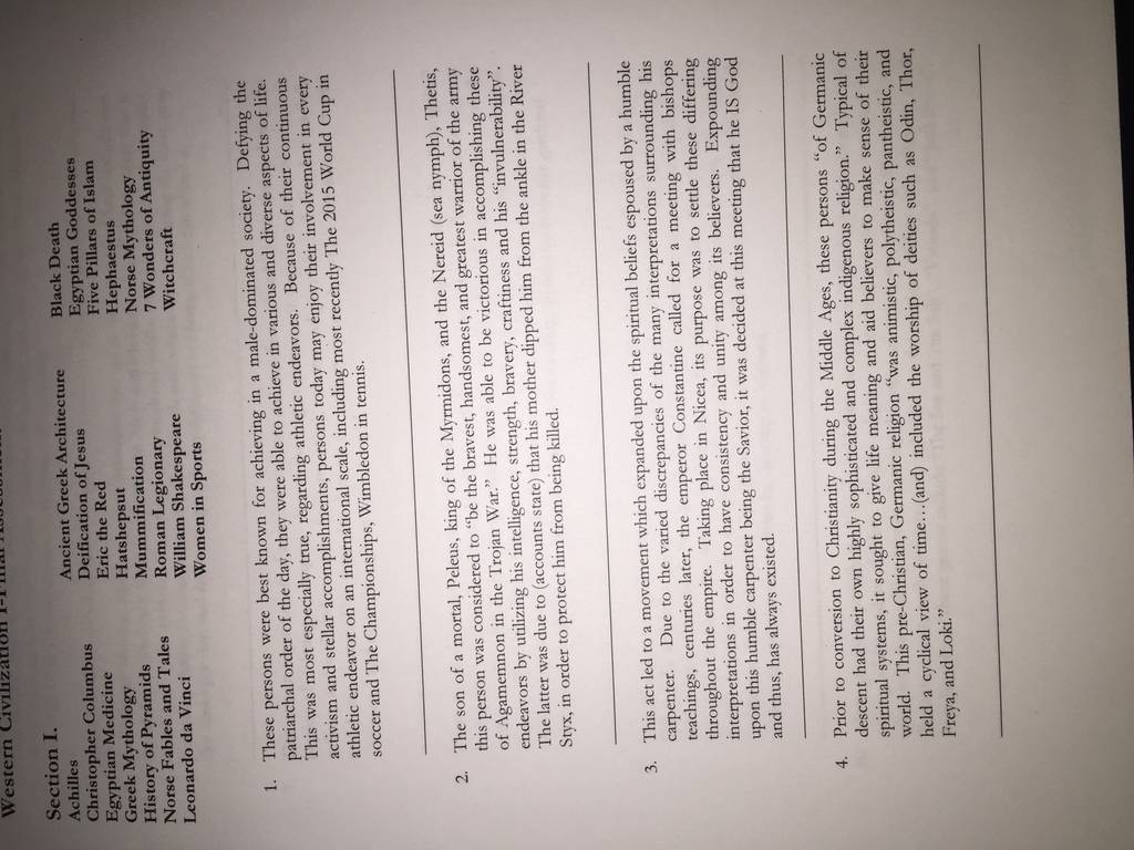a level pe coursework section c