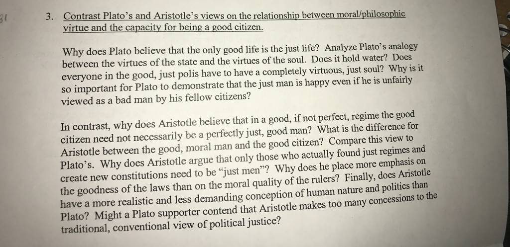 an analysis of platos argument for a just life The main text of the dialogue is socrates' analysis of crito's arguments why he should escape from prison crito is one of the jailhouse dialogues, coming in dramatic sequence after the apology and before the phaedo.
