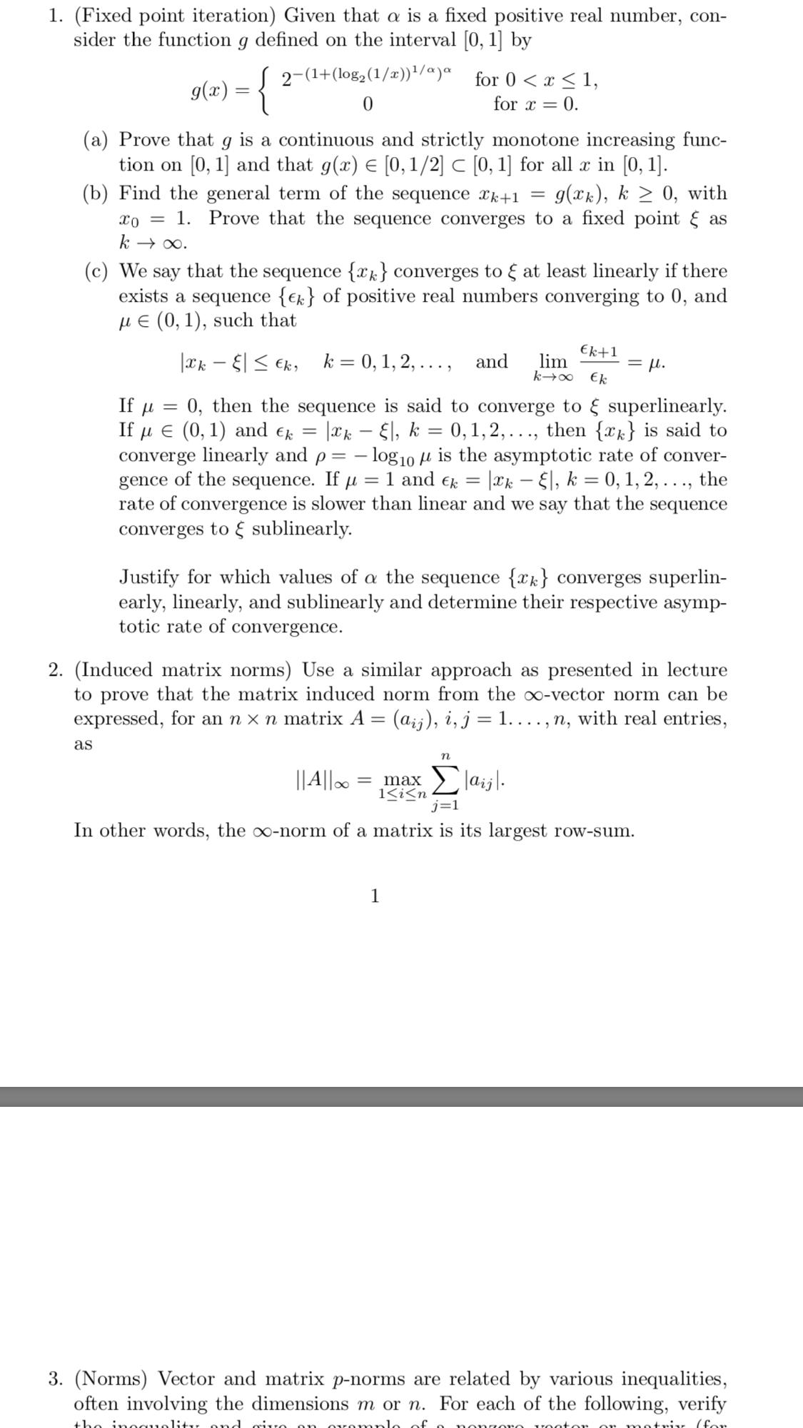 Numerical analysis homework help